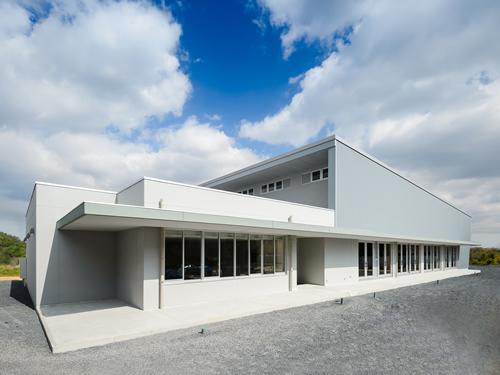 厚狭地区複合施設整備事業(体育館棟)外観南西面イメージ写真