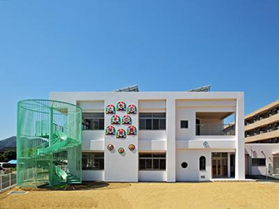 ともの園保育園外観東面イメージ写真