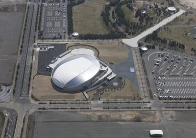 山口きらら博記念公園水泳プール上空イメージ写真